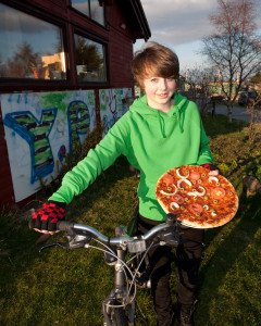 Youth raising funds in Findhorn